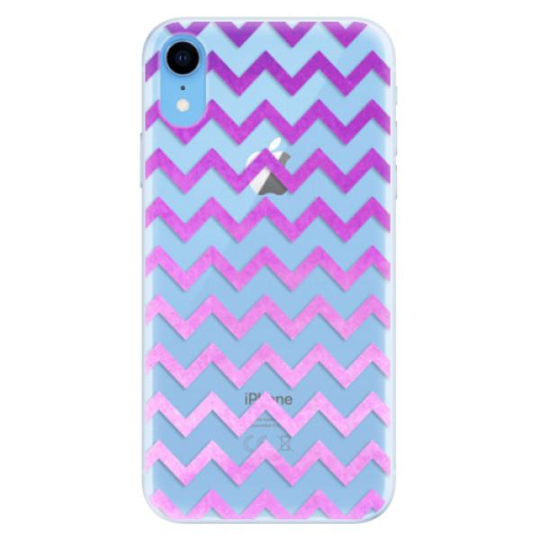 Silikonové pouzdro iSaprio - Zigzag - purple - iPhone XR