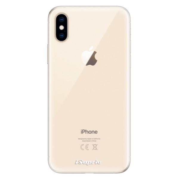Silikonové pouzdro iSaprio - 4Pure - mléčný bez potisku - iPhone XS