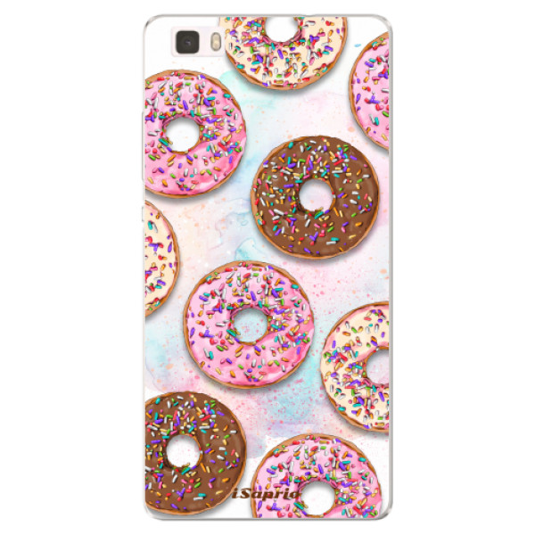 Silikonové pouzdro iSaprio - Donuts 11 - Huawei Ascend P8 Lite