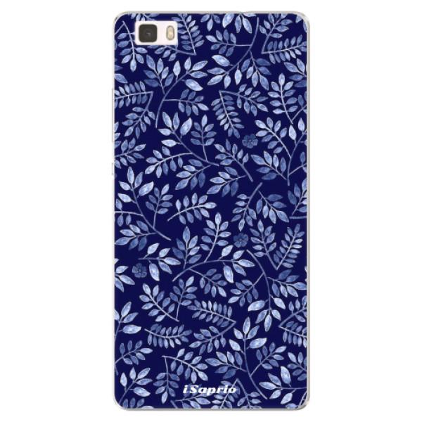Silikonové pouzdro iSaprio - Blue Leaves 05 - Huawei Ascend P8 Lite