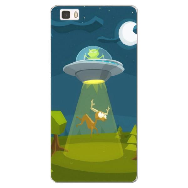 Silikonové pouzdro iSaprio - Alien 01 - Huawei Ascend P8 Lite