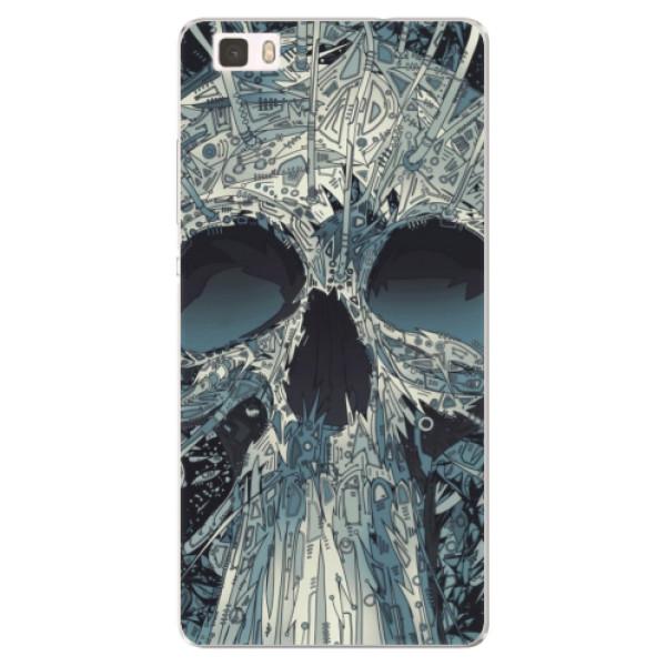 Silikonové pouzdro iSaprio - Abstract Skull - Huawei Ascend P8 Lite