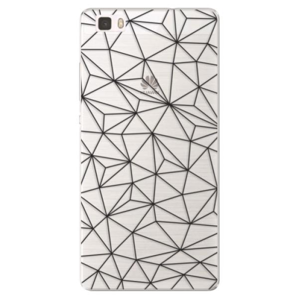 Silikonové pouzdro iSaprio - Abstract Triangles 03 - black - Huawei Ascend P8 Lite