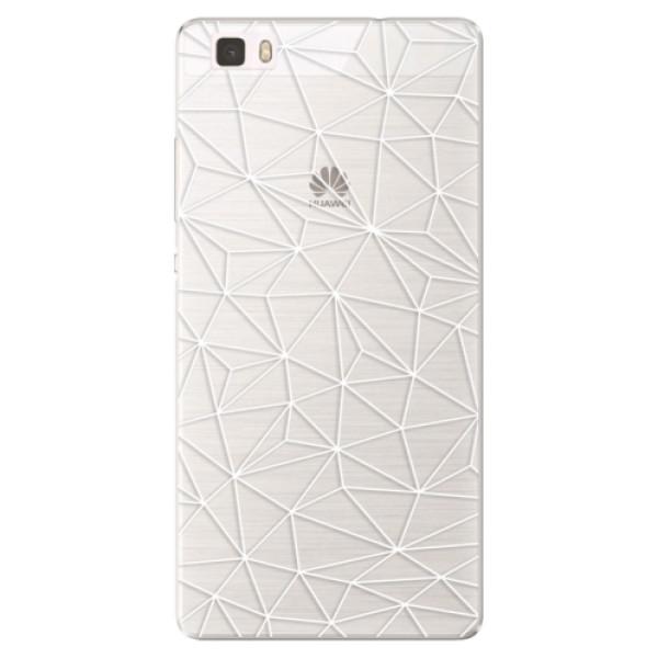 Silikonové pouzdro iSaprio - Abstract Triangles 03 - white - Huawei Ascend P8 Lite