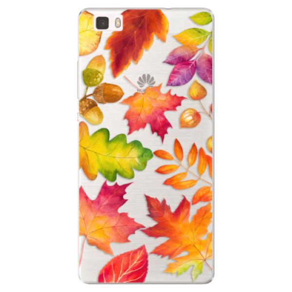 Silikonové pouzdro iSaprio - Autumn Leaves 01 - Huawei Ascend P8 Lite