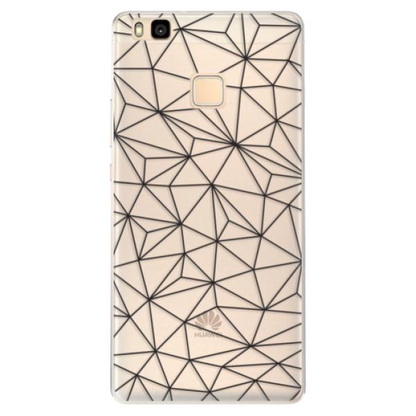 Silikonové pouzdro iSaprio - Abstract Triangles 03 - black - Huawei Ascend P9 Lite