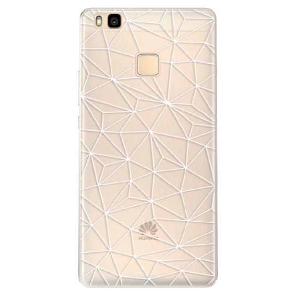 Silikonové pouzdro iSaprio - Abstract Triangles 03 - white - Huawei Ascend P9 Lite