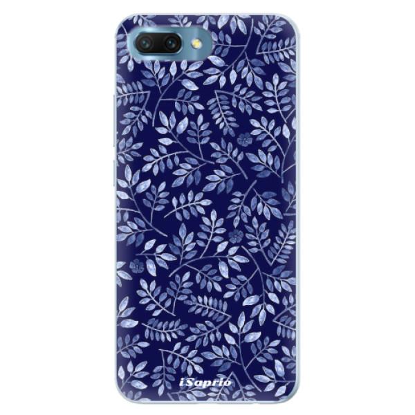 Silikonové pouzdro iSaprio - Blue Leaves 05 - Huawei Honor 10
