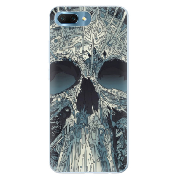 Silikonové pouzdro iSaprio - Abstract Skull - Huawei Honor 10