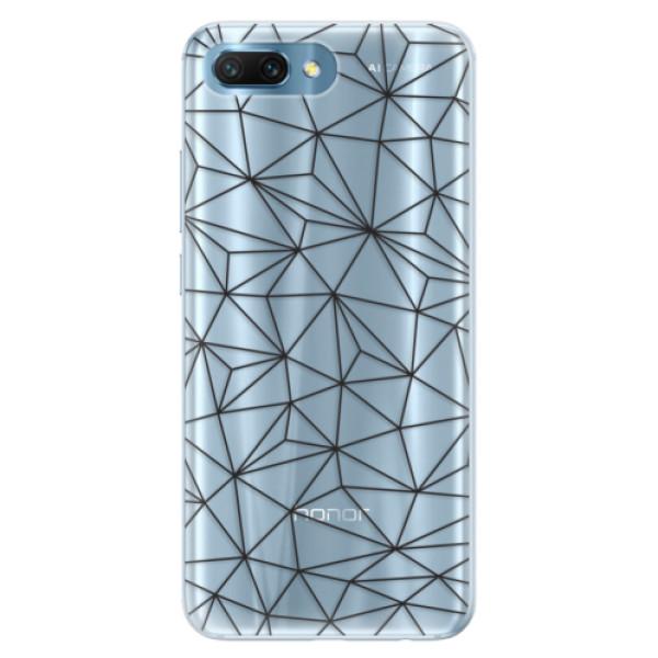 Silikonové pouzdro iSaprio - Abstract Triangles 03 - black - Huawei Honor 10