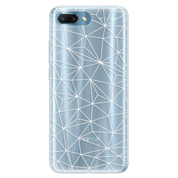 Silikonové pouzdro iSaprio - Abstract Triangles 03 - white - Huawei Honor 10