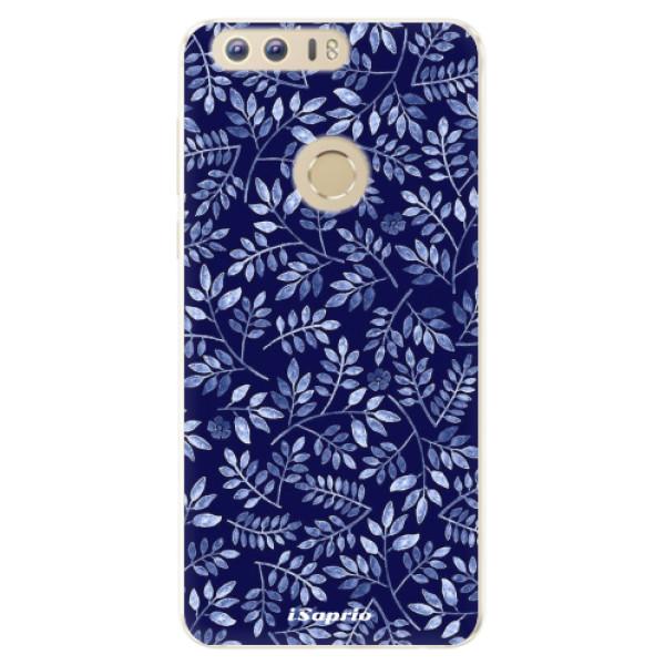 Silikonové pouzdro iSaprio - Blue Leaves 05 - Huawei Honor 8