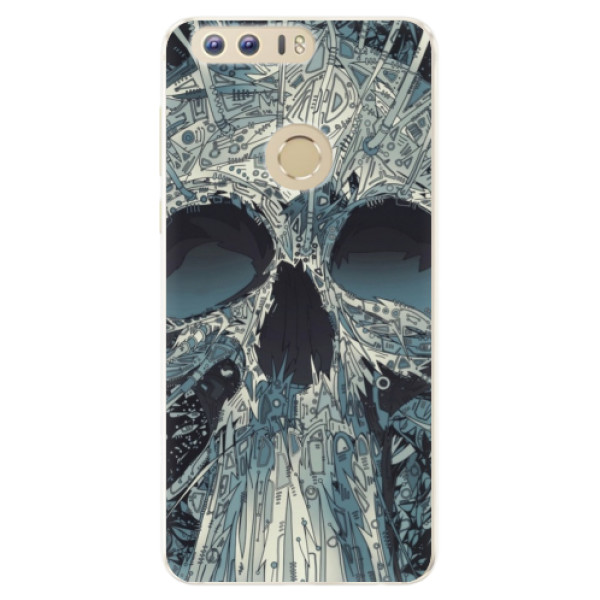 Silikonové pouzdro iSaprio - Abstract Skull - Huawei Honor 8
