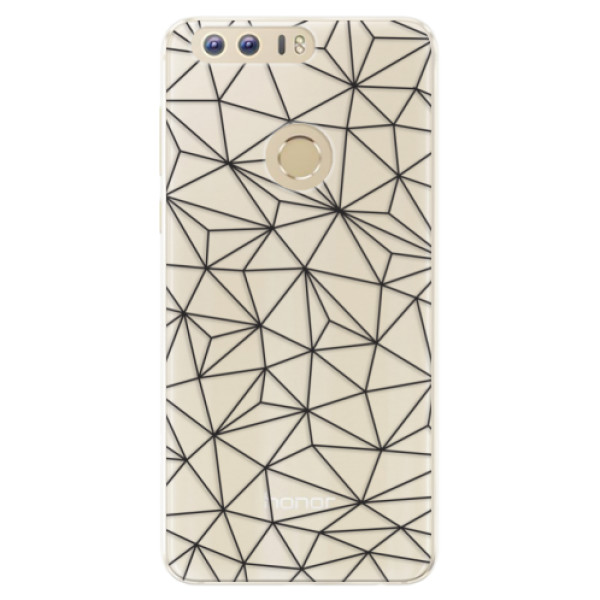 Silikonové pouzdro iSaprio - Abstract Triangles 03 - black - Huawei Honor 8