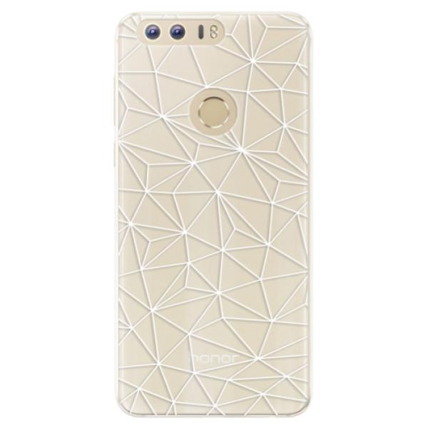 Silikonové pouzdro iSaprio - Abstract Triangles 03 - white - Huawei Honor 8