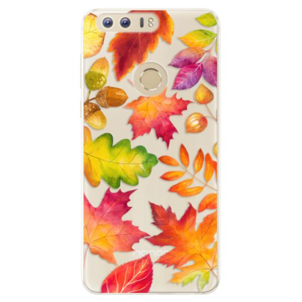 Silikonové pouzdro iSaprio - Autumn Leaves 01 - Huawei Honor 8