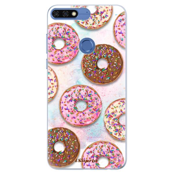 Silikonové pouzdro iSaprio - Donuts 11 - Huawei Honor 7C