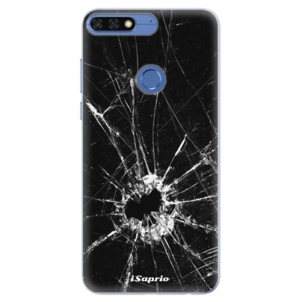Silikonové pouzdro iSaprio - Broken Glass 10 - Huawei Honor 7C