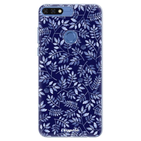 Silikonové pouzdro iSaprio - Blue Leaves 05 - Huawei Honor 7C