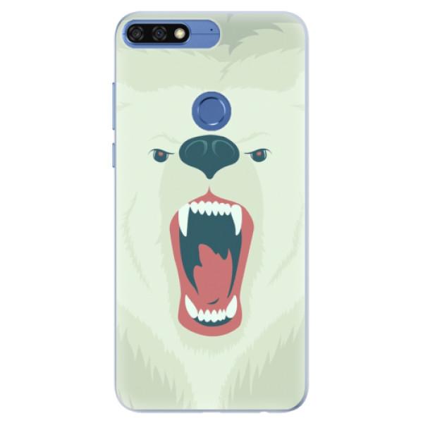 Silikonové pouzdro iSaprio - Angry Bear - Huawei Honor 7C