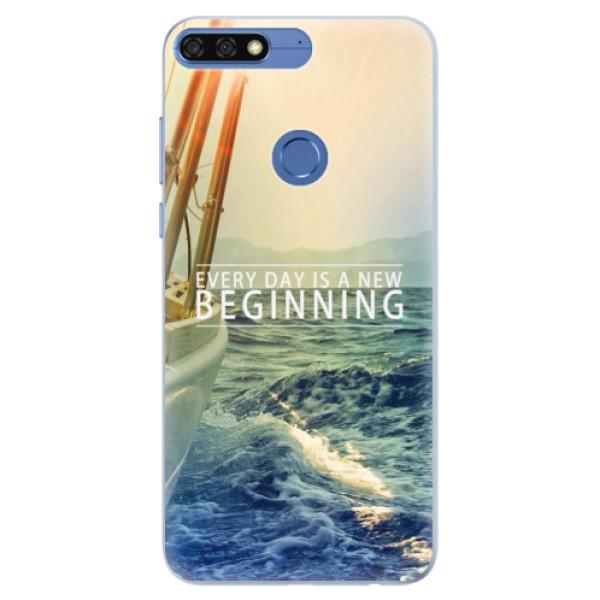 Silikonové pouzdro iSaprio - Beginning - Huawei Honor 7C