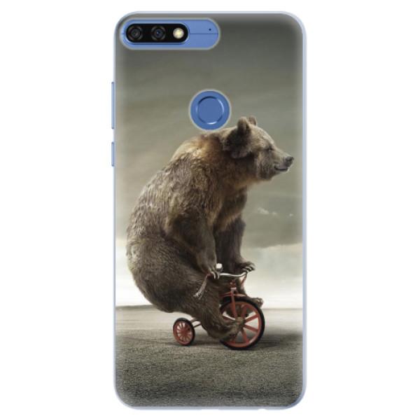 Silikonové pouzdro iSaprio - Bear 01 - Huawei Honor 7C
