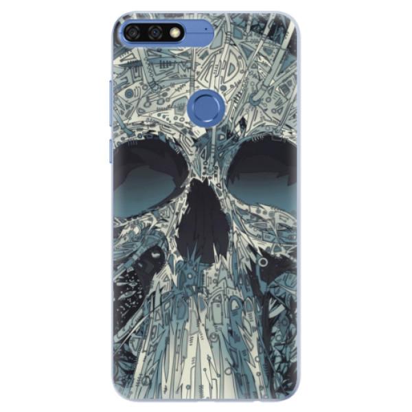 Silikonové pouzdro iSaprio - Abstract Skull - Huawei Honor 7C