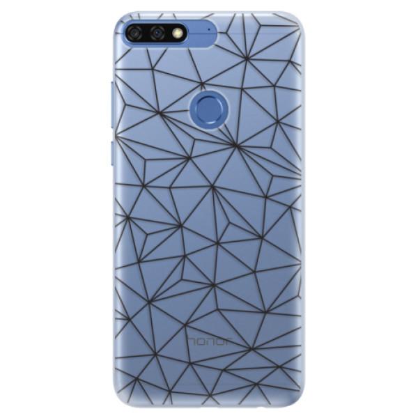 Silikonové pouzdro iSaprio - Abstract Triangles 03 - black - Huawei Honor 7C