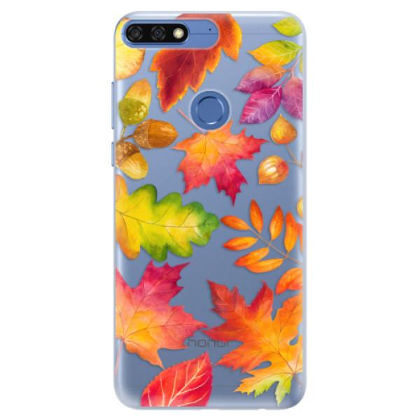 Silikonové pouzdro iSaprio - Autumn Leaves 01 - Huawei Honor 7C