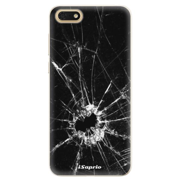 Silikonové pouzdro iSaprio - Broken Glass 10 - Huawei Honor 7S