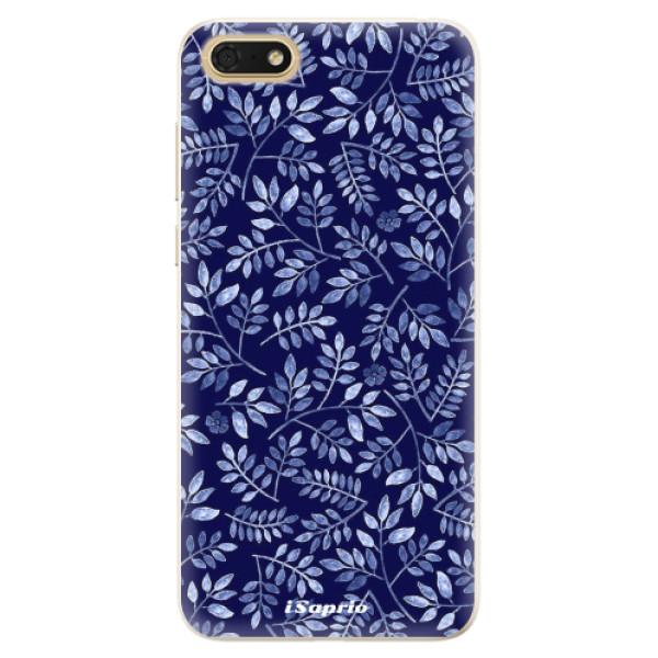 Silikonové pouzdro iSaprio - Blue Leaves 05 - Huawei Honor 7S