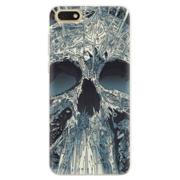 Silikonové pouzdro iSaprio - Abstract Skull - Huawei Honor 7S
