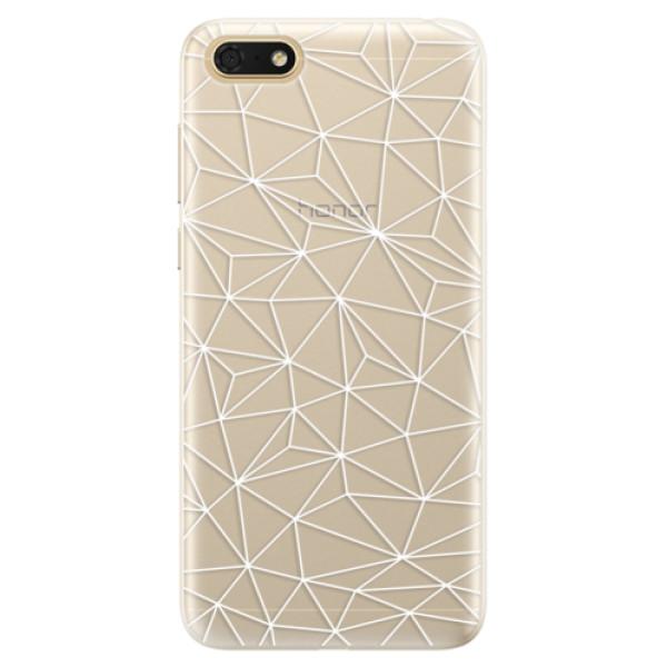 Silikonové pouzdro iSaprio - Abstract Triangles 03 - white - Huawei Honor 7S