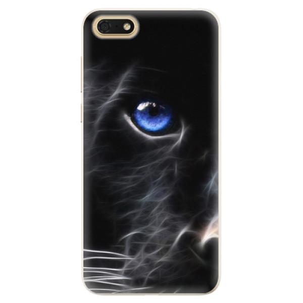Silikonové pouzdro iSaprio - Black Puma - Huawei Honor 7S