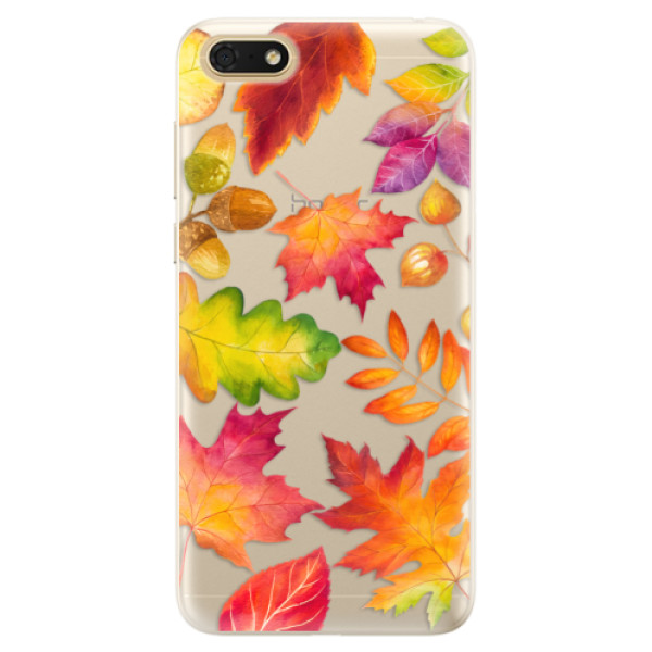 Silikonové pouzdro iSaprio - Autumn Leaves 01 - Huawei Honor 7S