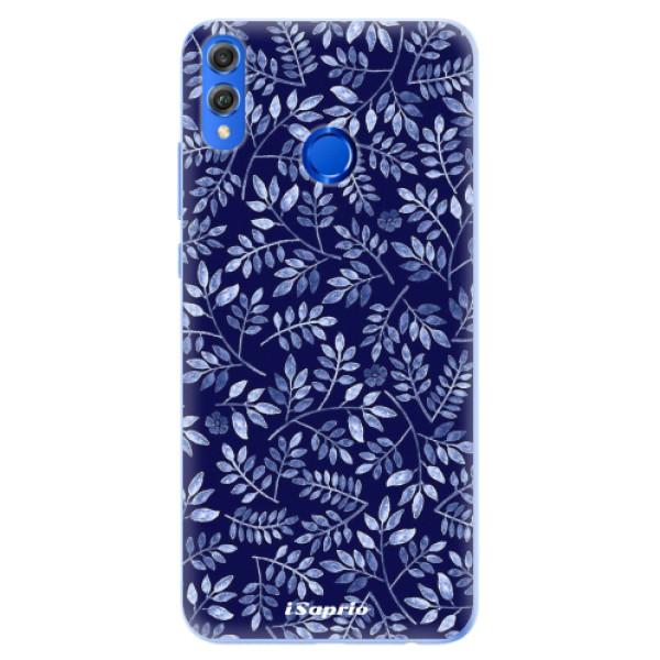 Silikonové pouzdro iSaprio - Blue Leaves 05 - Huawei Honor 8X