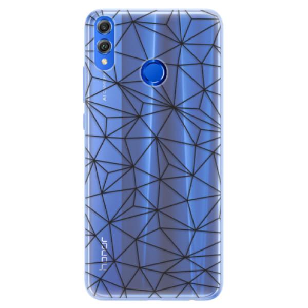 Silikonové pouzdro iSaprio - Abstract Triangles 03 - black - Huawei Honor 8X