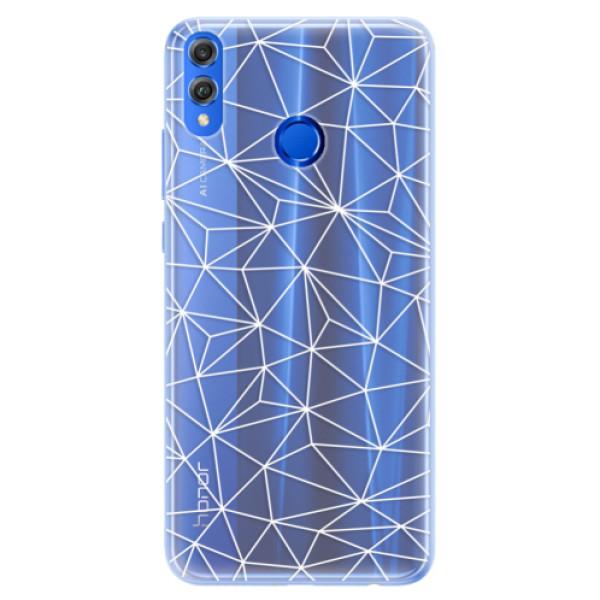 Silikonové pouzdro iSaprio - Abstract Triangles 03 - white - Huawei Honor 8X