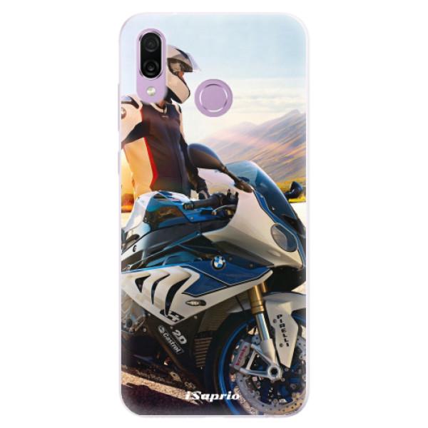 Silikonové pouzdro iSaprio - Motorcycle 10 - Huawei Honor Play