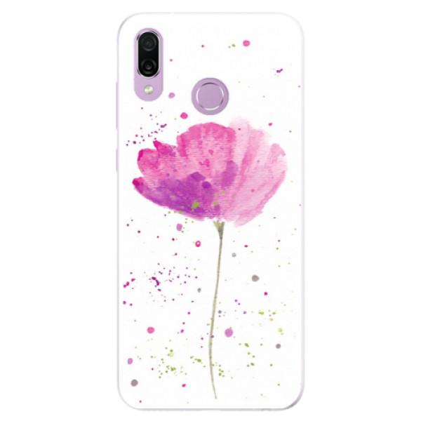 Silikonové pouzdro iSaprio - Poppies - Huawei Honor Play
