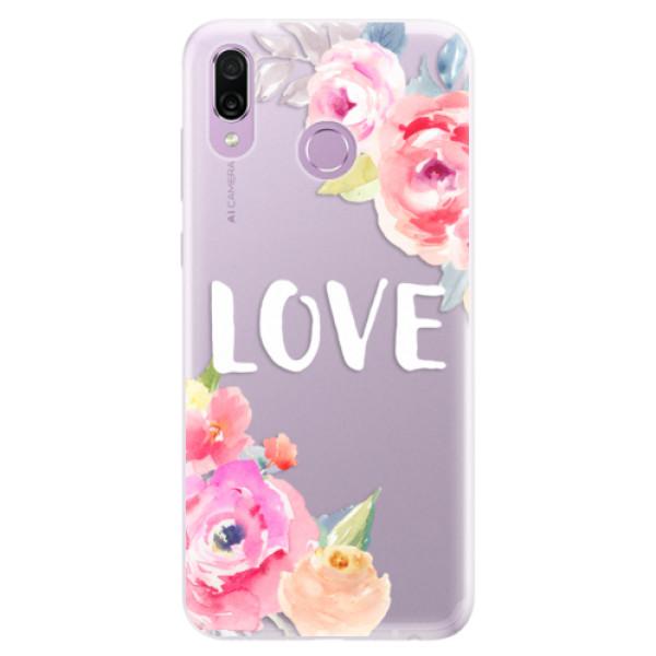 Silikonové pouzdro iSaprio - Love - Huawei Honor Play