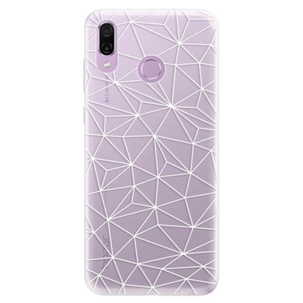Silikonové pouzdro iSaprio - Abstract Triangles 03 - white - Huawei Honor Play