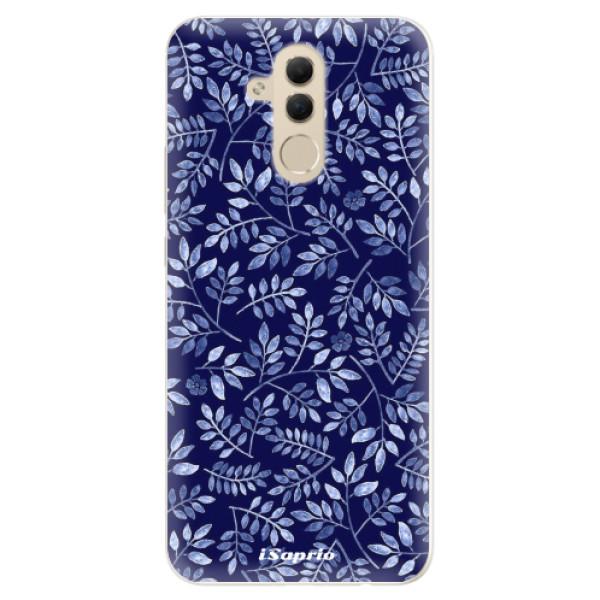 Silikonové pouzdro iSaprio - Blue Leaves 05 - Huawei Mate 20 Lite