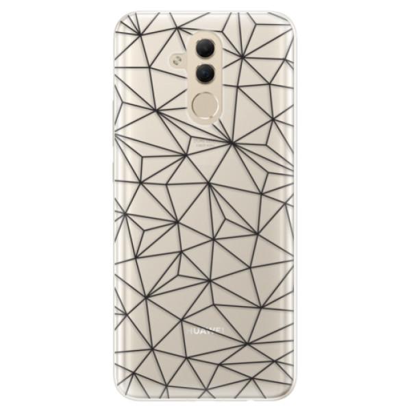 Silikonové pouzdro iSaprio - Abstract Triangles 03 - black - Huawei Mate 20 Lite