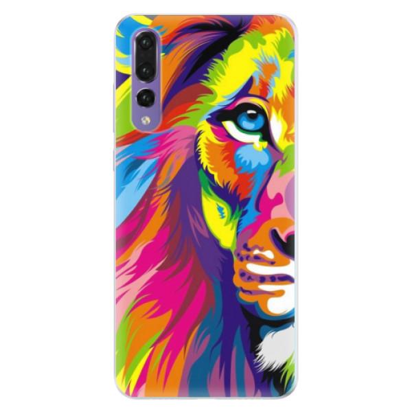 Silikonové pouzdro iSaprio - Rainbow Lion - Huawei P20 Pro