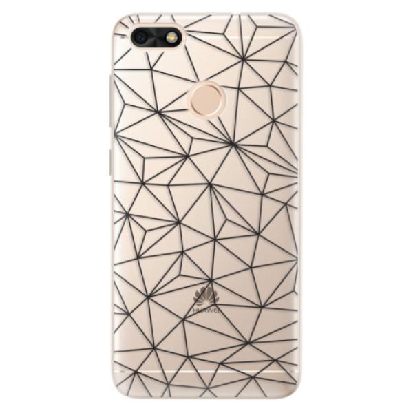 Silikonové pouzdro iSaprio - Abstract Triangles 03 - black - Huawei P9 Lite Mini