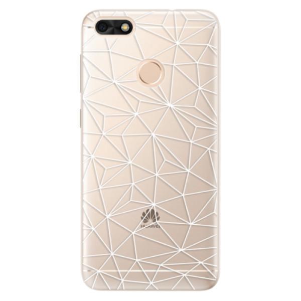 Silikonové pouzdro iSaprio - Abstract Triangles 03 - white - Huawei P9 Lite Mini