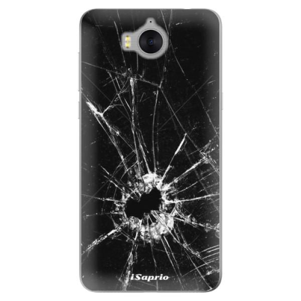 Silikonové pouzdro iSaprio - Broken Glass 10 - Huawei Y5 2017 / Y6 2017