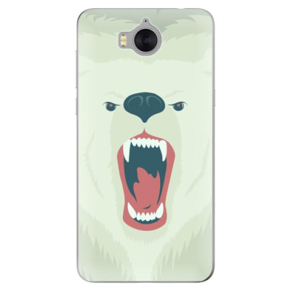 Silikonové pouzdro iSaprio - Angry Bear - Huawei Y5 2017 / Y6 2017