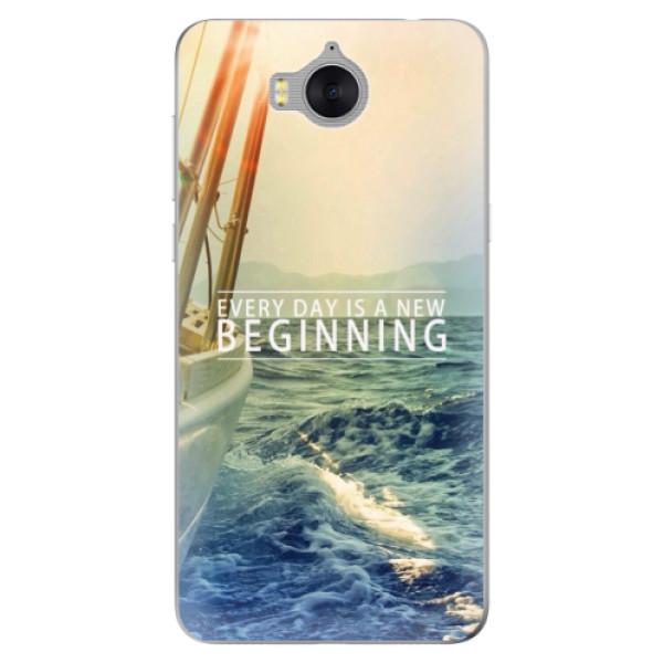 Silikonové pouzdro iSaprio - Beginning - Huawei Y5 2017 / Y6 2017